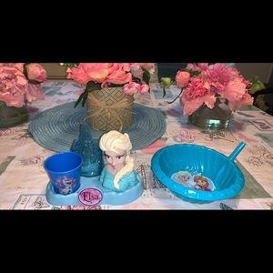 Disney Frozen Elsa Toothbrush Stand & Bowl